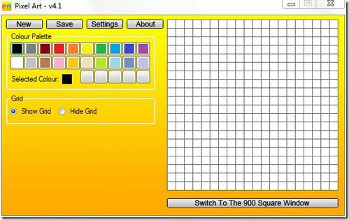 Pixel Art 400 Square  Window