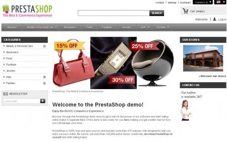 PrestaShop default window