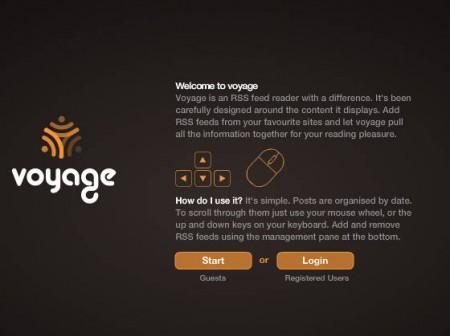RSSVoyage start guest login