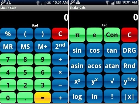 Shake Calc App
