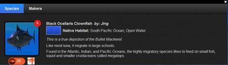 The Blue fish description