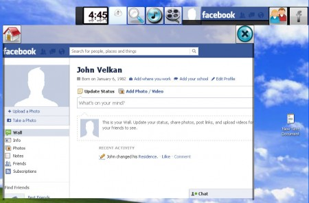 Trinity Toolbar Facebook browsing