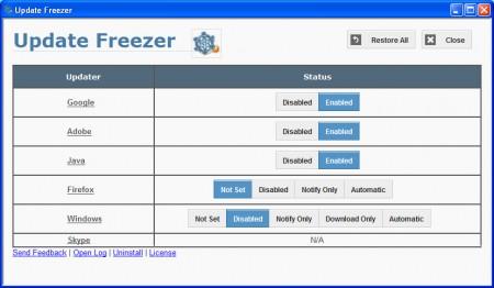 Update Freezer default window