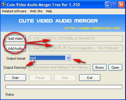 Video Audio Merger adding files