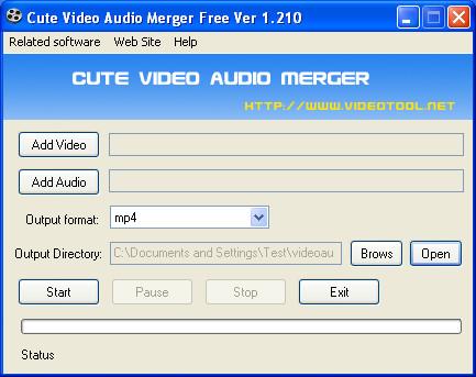 Video Audio Merger default window