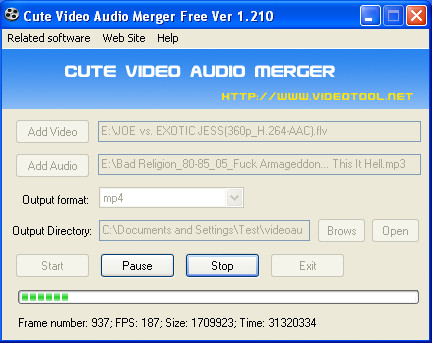 Video Audio Merger joining in process
