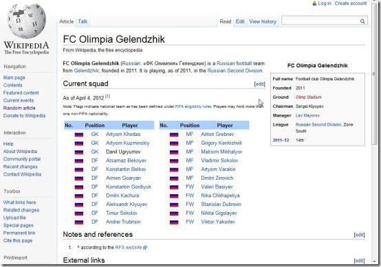 Wikipedia Screen Saver