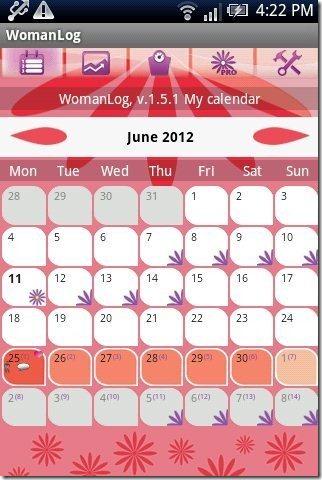 WomanLog Calendar