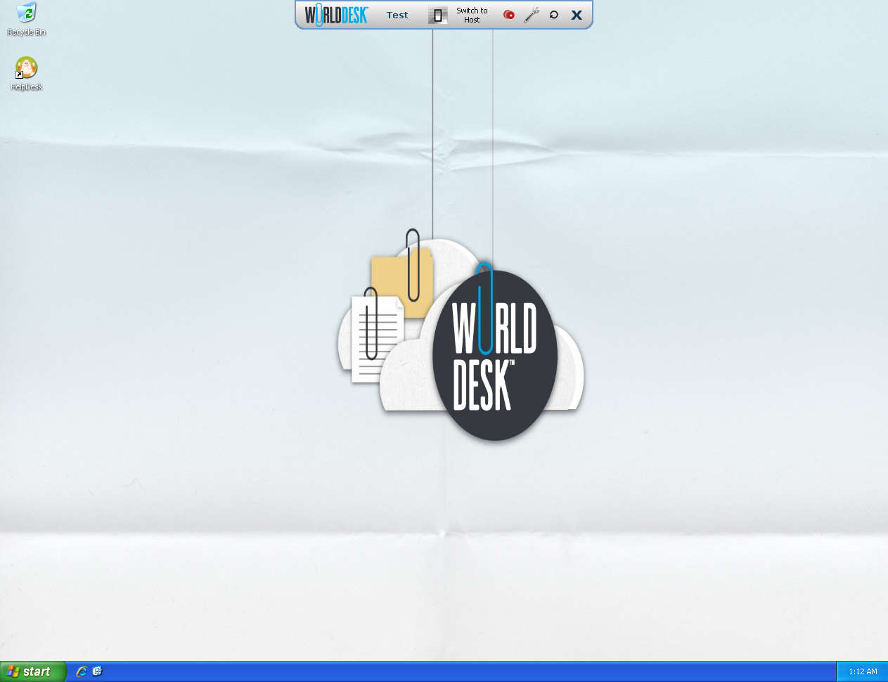 WorldDesk default window