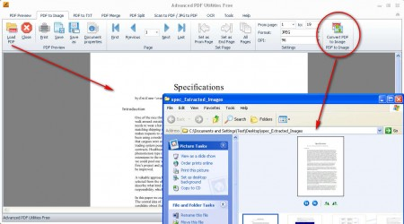 Advanced PDF Utilities PDF images convert