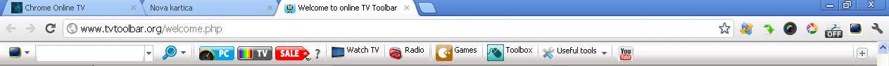Chrome Online TV default window
