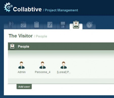 Collabtive users managing