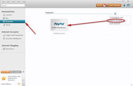 Dashlane add PayPal