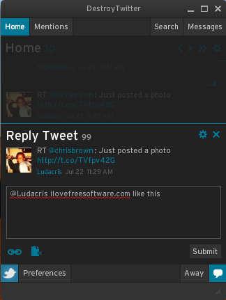 Destroy Twitter replying to tweet