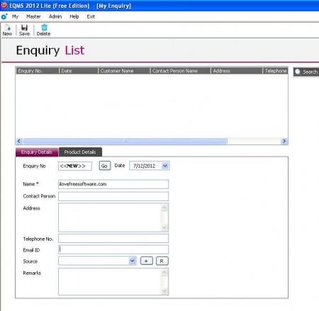 EQMS Lite creating sale