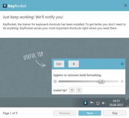 KeyRocket default window