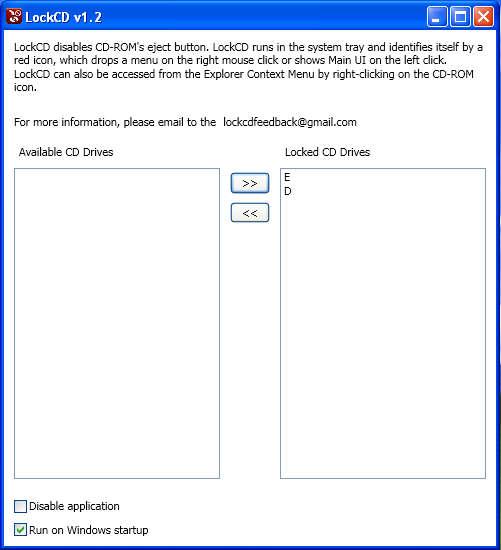 LockCD default window