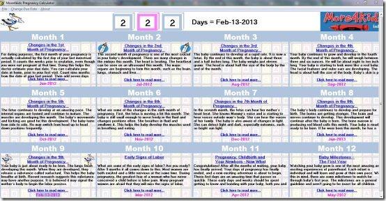 More4Kids Pregnancy Calculator For Windows