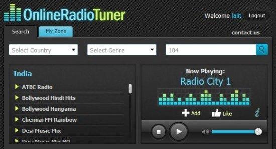 OnlineRadioTuner