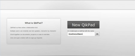 QikPad default window