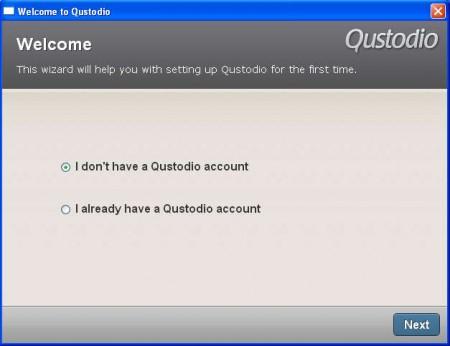 Qustodio register account