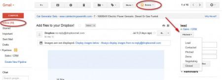 Streak adding email to box
