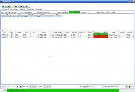 Trading Manager default window