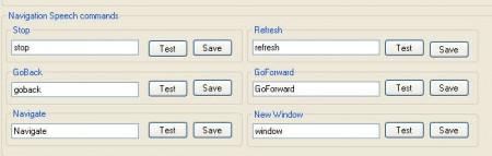 Voice Browser commands navigation