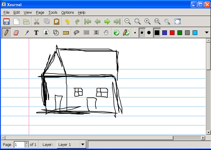 Xournal house sketch