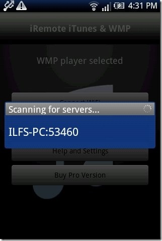 iRemote iTunes & WMP Device Scan