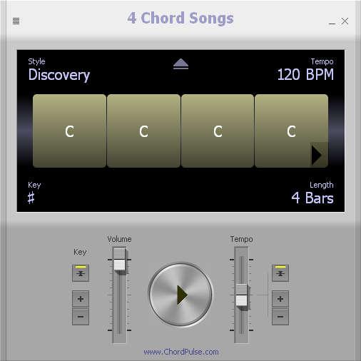 4 Chord Songs default window