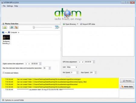 ATOM GPS default window