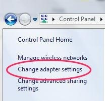Adpater Settings