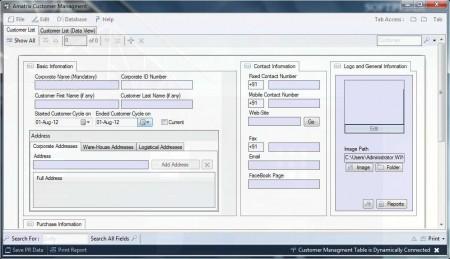 Amatrix customer management