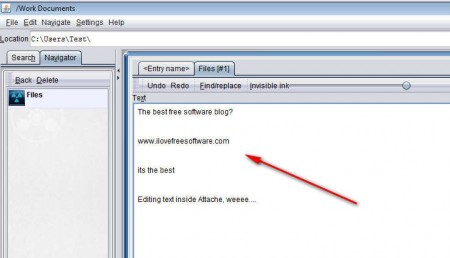 Attache editing text documents