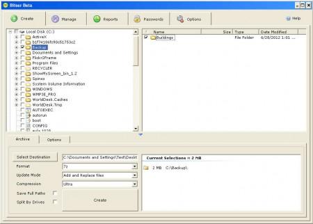 Bitser creating archive