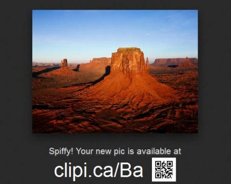 Clipica crop upload complete