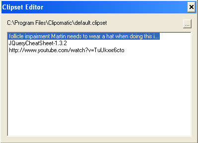 Clipomatic default window