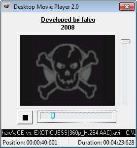 Desktop Movie default window