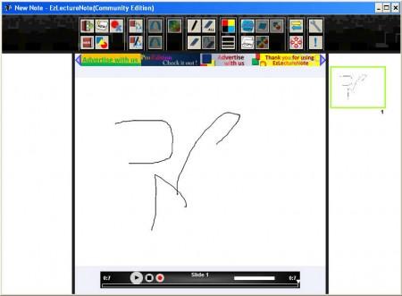 EZ Lecture Note default window