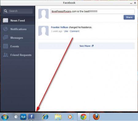 Facebook creating a post