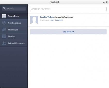 Facebook default window