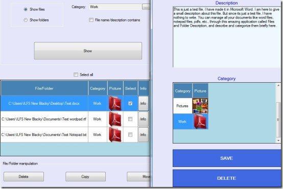 File and Folder Description description