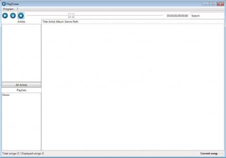 FlagTunes default window