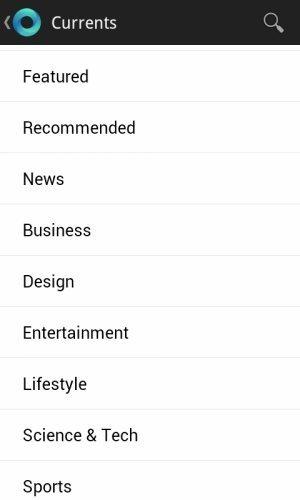 Google Currents list