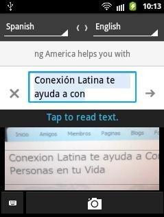 Google Translate OCR