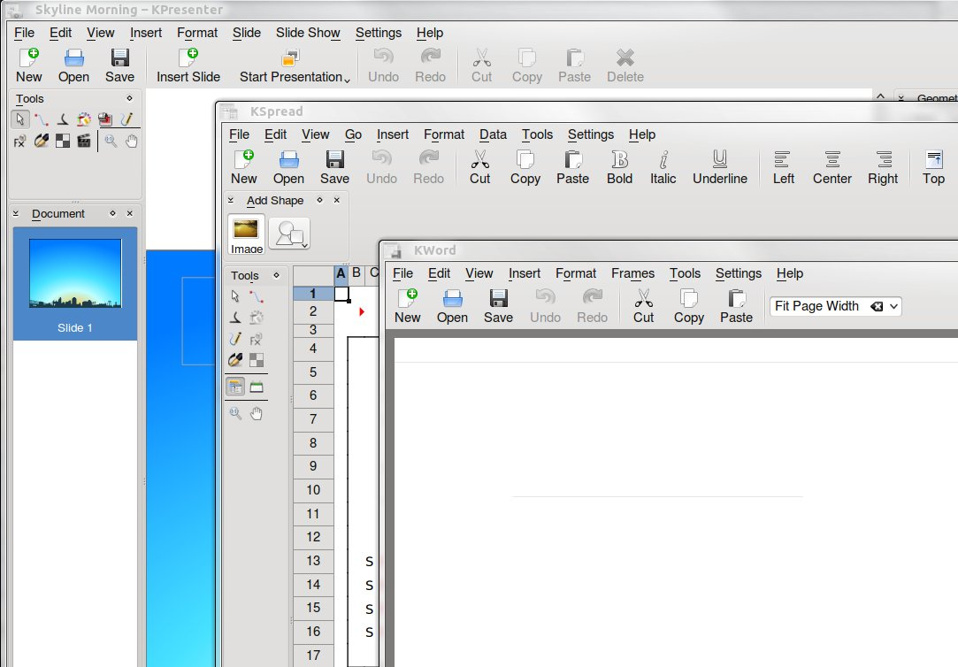 KOffice default window