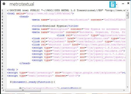 Metro Textual HTML editing
