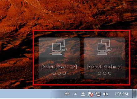 Nitroshare widgets sharebox