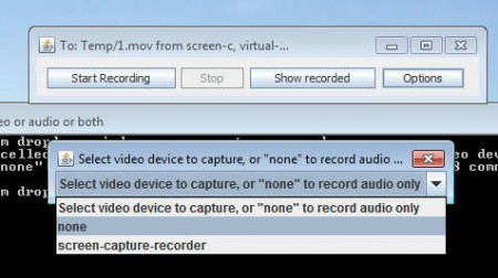 On Screen Capture Recorder select whats recorded